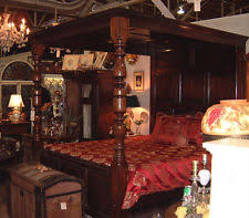 Vintage Canopy Bed Oak Antique Beds Bedroom Sets Ebay