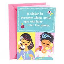 Hallmark Birthday Card Amazon Com Hallmark Mahogany Birthday Greeting Card For Sister