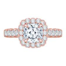 gold cushion cut engagement rings 18k gold cushion cut diamond halo engagement ring shah luxury