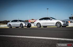 lexus gs 350 performance 2016 hyundai genesis vs lexus gs 350 v6 luxury car comparison