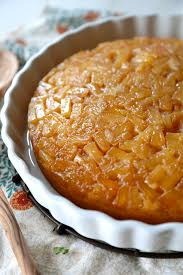 lightened up pineapple upside down cake