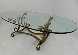 Vintage Glass Top Coffee Table Awesome Oval Glass Coffee Table Dans Design Magz