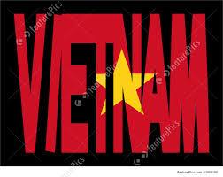 Viet Nam Flag Vietnam Text With Flag Illustration