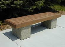 Ipe Bench Benches Doty Concrete
