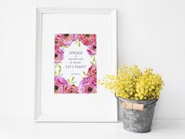 printable watercolor art for spring