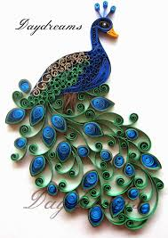 Quilling Designs Daydreams Quilled Peacock Embroidery Design Inspired Crafts