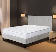 amazon com olee sleep 14 inches faux leather wood slat bed frame