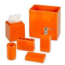 orange bathroom accessories orange bath accessories projects