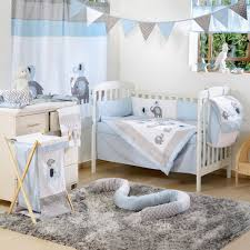 Boy Nursery Bedding Set by Blue Elephant Crib Collection 4 Pc Crib Bedding Set Boys Crib