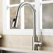 kitchen sink and faucet vapsint modern stainless steel single handle single hole pull out