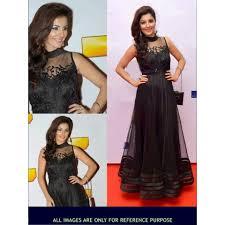 isha talwar black net party wear gown scgn1393 indian trendz