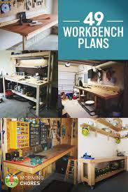 Plans For A Garage Garage Workbench Building Garage Workbench Best Diy Ideas On