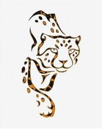 vector leopard executed in the form of a tribal tattoo vector