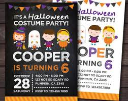 franken face digital party invitation halloween party