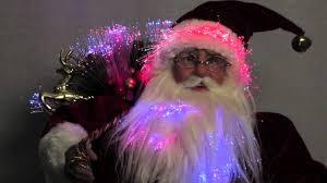 traditional santa with lantern u0026 sack fibre optic animation 46cm