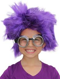 purple minion costume afro wig purple minion costume purple minion wig minion goggles