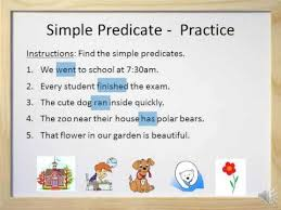 simple predicates and complete predicates video and worksheet