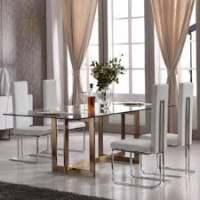 mesmerizing contemporary dining table clear glass top dining room mesmerizing contemporary table clear glass top rectangular shae steel base material brass