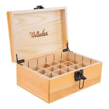 amazon com welledia aromastorage essential oil wooden box large