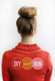 sock bun hair hair tutorial diy sock bun