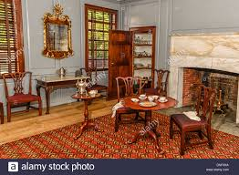 peyton randolph house interior room and furnishings in colonial