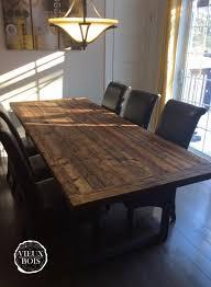 table cuisine en bois vieuxbois bois de grange design ébénisterie laurentides