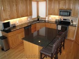 granite island kitchen opalescence granite kitchen island countertops black pertaining to