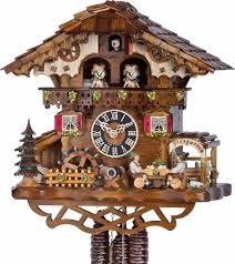 cuckoo clock 1 day movement chalet style 32cm by hönes 6259t