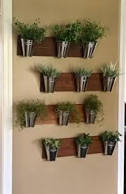 indoor wall planter wood grain horizontal mount one row of 3