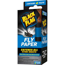 With All Flags Flying Black Flag Fly Paper 4 Count Hg 11016 The Home Depot