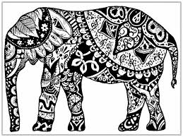 floral elephant coloring pages adults download hd elephant