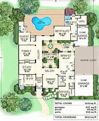 courtyard floor plans courtyard house plans inspirational mexican style house plans with