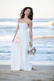 plunging v neck long sleeve custom chiffon beach wedding dress