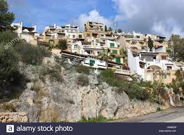 mediterranean houses on the hillside stock photo royalty free