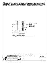 nih standard cad details a 1020 01 corner guard 01