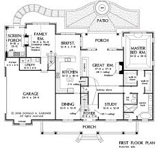house plan architects prissy design 14 open floor plans by donald gardner house plan the