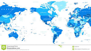 Vector World Map World Map America In Center Stock Vector Image 63202187