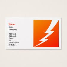 lightning bolt business cards u0026 templates zazzle