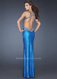 la femme 18724 sapphire blue sequin open back prom dresses online
