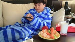 Years Old Child Watching Tv Lying On Sofa At Home Stock Footage - Lying sofa 2
