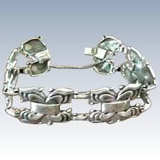 butterfly link bracelet images Vintage coro sterling silver abstract butterfly link bracelet jpg