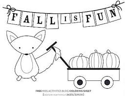fall coloring pages printable page with leaves and some