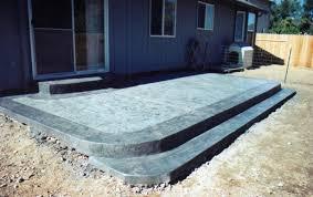 Backyard Cement Patio Ideas Extraordinary Backyard Concrete Patio Ideas In Budget Home With On