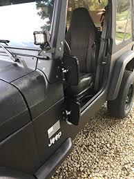 jeep wrangler mirrors amazon com doors jeep wrangler side hinge mirrors 1976