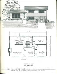 Vintage Home Plans Vintage House Plans Mid Century Homes 1950s 1950 Ranch Pleasing S