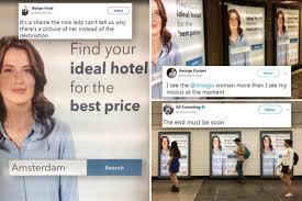 trivago commercial actress brits are very freaked out by the woman on the trivago advert for