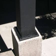 wood deck post anchors support post bases for outdoor structures