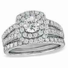 zales black friday 2017 1 1 2 ct t w diamond double frame bridal set in 14k white gold