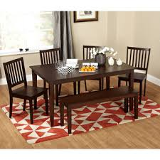shaker espresso 6 piece dining table set with bench shaker espresso 6 piece dining table set with bench mag apartment