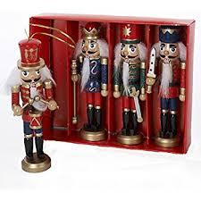 nutcracker ornaments wood handpainted assorted set